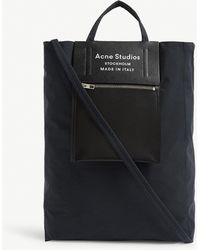 Acne Studios Baker Logo Leather Tote - Black