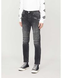True Religion Rocco Motorcycle-detail Slim Jeans - Black
