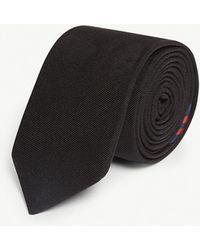 HUGO - Striped Silk-blend Tie - Lyst