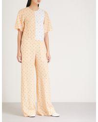 JOSEPH - Floral-print Silk Jumpsuit - Lyst