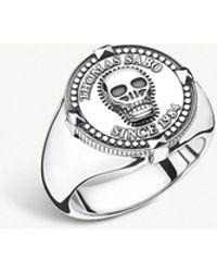 Thomas Sabo - Since 1984 Skull Sterling Silver Signet Ring - Lyst
