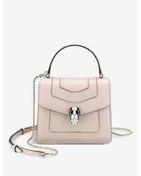 BVLGARI Serpenti Forever Leather Cross-body Bag - Pink