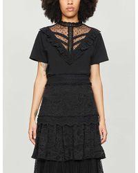 The Kooples Lace T-shirt - Black