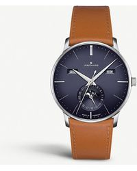 Junghans 027/4906.01 Meister Kalendar Stainless Steel And Leather Watch - Blue