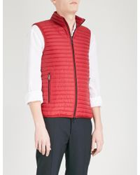 Emporio Armani Funnel-collar Padded Shell And Down-blend Gilet - Red