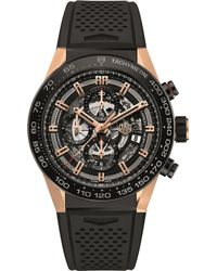 Tag Heuer - Car2a5a.ft6044 Carrera Titanium And Rose-gold Watch - Lyst