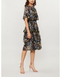 Needle & Thread - Painted Rose Floral-print Fil Coupé Chiffon Dress - Lyst