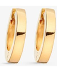 Astley Clarke Women's Mini Stilla 18ct Yellow Gold-plated Sterling Silver Hoop Earrings