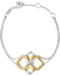 Links of London - Infinite Love 18ct Gold Vermeil And Sterling Silver Bracelet - Lyst