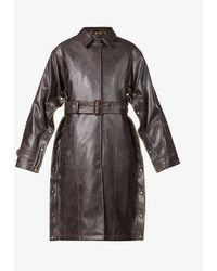 Y. Project Belted Faux-leather Trench Coat - Black