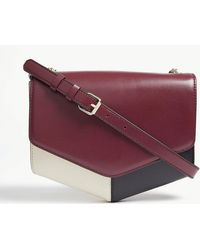 Sandro - Ladies Dark Red Lou Leather Cross-body Bag - Lyst