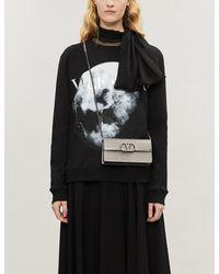 Valentino Moon-print Cotton-blend Jersey Sweatshirt - Black
