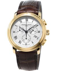 Frederique Constant Fc-292mc4p5 Classic Gold-plated Stainless Steel And Leather Watch - Metallic