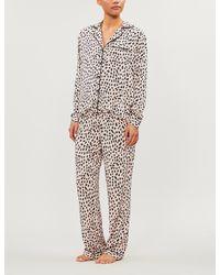 Rails Clara Animal-print Twill Pyjama Set - Multicolour