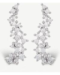 Kendra Scott - Petunia Rhodium-plated And Cubic Zirconia Climber Earrings - Lyst