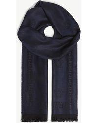 Versace - Medusa Wool Scarf - Lyst