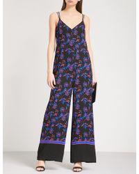 Whistles   Hana Floral-print Crepe Wide-leg Jumpsuit   Lyst