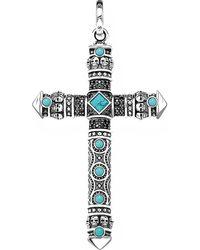 Thomas Sabo Rebel At Heart Cross Sterling Silver Pendant - Metallic