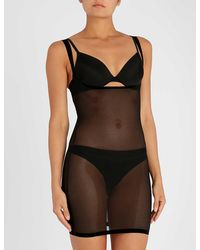 Wolford Black Tulle Forming Dress