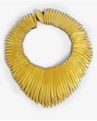 Monies Segmented Gold-leaf Necklace - Metallic