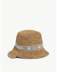 JW Anderson Asymmetric Straw Bucket Hat - Multicolour