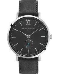 Larsson & Jennings - Kulor Stainless Steel And Leather Watch - Lyst