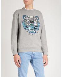 KENZO - Tiger-embroidery Cotton Sweatshirt - Lyst