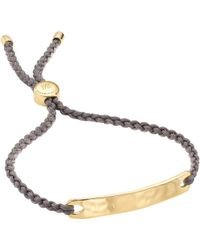 Monica Vinader - Havana 18 Carat Gold Plated Vermeil Friendship Bracelet - Lyst