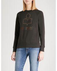 Étoile Isabel Marant - Milly Logo-flocked Cotton-blend Sweatshirt - Lyst