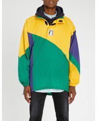 Balenciaga - Oversized Colour-blocked Shell Windbreaker Jacket - Lyst