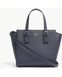 Kate Spade - Ladies Blazer Blue Striped Elegant Cameron Street Hayden Leather Cross-body Bag - Lyst