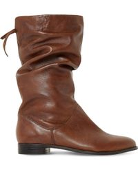 Dune - Rosalind Slouchy Leather Boots - Lyst