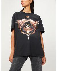 Givenchy - Virgo Logo-print Cotton-jersey T-shirt - Lyst