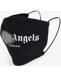 Palm Angels Spray Logo-print Cotton Face Covering - Black