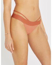 Calvin Klein - Cut-out Bikini Bottoms - Lyst