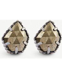 Kendra Scott - Tessa Antiqued Silver-plated Earrings - Lyst