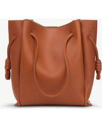 Loewe - Ladies Rust Orange Flamenco Knot Leather Shoulder Bag - Lyst