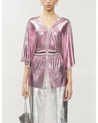 Paco Rabanne Crystal-embellished Chainmail Top - Pink