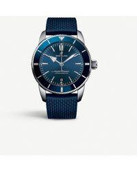 Breitling Ab201012/bf73 Superocean Heritage Ii Stainless Steel Watch - Blue