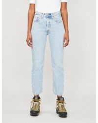 Levi's 501 Cropped Straight High-rise Jeans - Blue