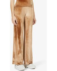 PREVU Relaxed-fit Mid-rise Stretch-velour jogging Bottoms - Multicolour
