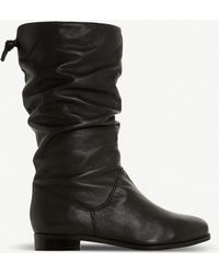 69f6f4ffee3 Dune Rosalind Slouchy Leather Boots in Brown - Save 2% - Lyst