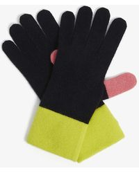 Chinti & Parker Cashmere-blend Colour-block Gloves - Multicolor