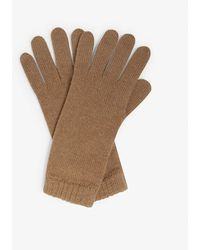 Johnstons Short Cuff Cashmere Gloves - Natural