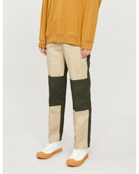 Dickies Colour-block Straight Cotton-stretch Pants - Natural