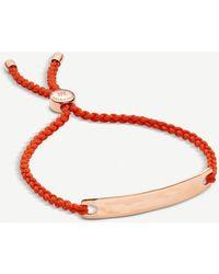 Monica Vinader Havana 18ct Rose Gold-plated Friendship Bracelet - Black