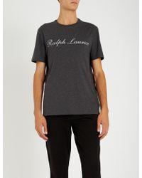 Ralph Lauren Purple Label - Logo-printed Cotton-jersey T-shirt - Lyst