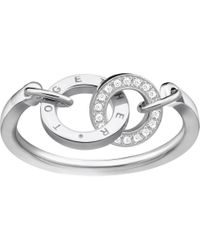 Thomas Sabo Together Forever Sterling Silver And Zirconia Ring - Metallic