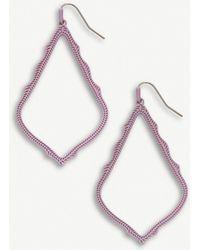 5929e3665 Lyst - Kendra Scott Sophee Silver Cut Out Lotus Earrings in Metallic