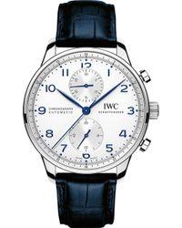 Iwc - Iw371446 Portugieser Leather Watch - Lyst